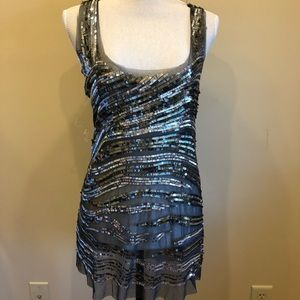 NWOT Romeo & Juliet Couture Sequin/Mesh Tank Small